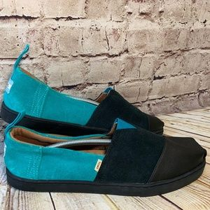 Toms So ill Collaboration Suede Flats Womens 12
